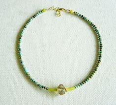 Collar Turquesa africana, Jade limón, Citrino