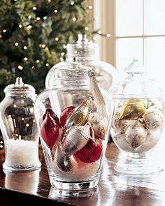 {Coastal Christmas} Apothecary Jars | | Beach House DecoratingBeach House Decorating