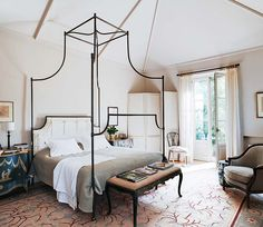 Bedroom in Spain via Habitually Chic