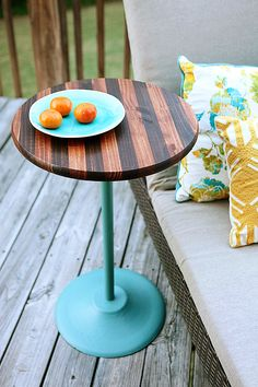 DIY Stained Side Table
