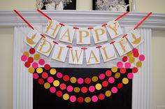 Happy Diwali Banner Diwali Sign Diwali Banner by DCBannerDesigns Diwali Craft, Diwali Diy, Diwali Gifts, Happy Diwali, Red Crafts, Diy And Crafts, Crafts For Kids, Indian Festival Of Lights, Festival Lights