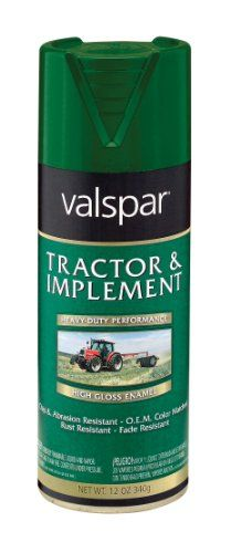 Valspar 5339-10 Tractor and Implement Spray Paint, JD Green, 12 oz.. For product info go to:  https://www.caraccessoriesonlinemarket.com/valspar-5339-10-tractor-and-implement-spray-paint-jd-green-12-oz/