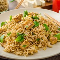 10 Great Pasta Recipes for Lovers of Gluten-Free Pasta Vegetarian Recipes, Cooking Recipes, Healthy Recipes, Meal Recipes, Tofu Ramen, Ramen Food, Ramen Noodles, Great Pasta Recipes, Plate