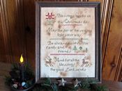 Christmas Blessings: A Cross Stitch Chart by Falling Star Primitives Christmas Blessings, Falling Stars, My Design, Blessed, Cross Stitch, Primitives, Joy, Frame, Pattern