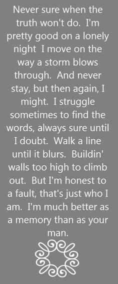 Kenny Chesney - Better As A Memory - song lyrics, song quotes, songs, music lyrics, music quotes,