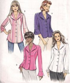 Butterick 4659 Juniors Womens Misses Shirt Sewing Pattern @Timothy Eccleston Travel Costumes