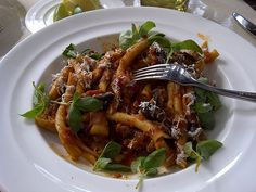 Culina at the Four Seasons Los Angeles at Beverly Hills. pasta with eggplant aubergines