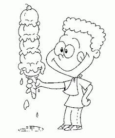 Ice Cream Coloring Pages smurf
