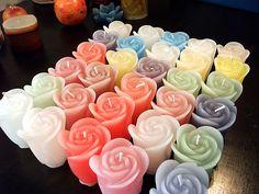 Kit com 15 velas florais alta. Cores e essência a sua escolha
