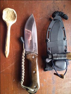 Ka-Bar Becker BK2 Campanion Fixed Blade Knife I like it.... What I like is the wooden spoon in this line up! Like its trying to be tough. Silly wooden spoon!