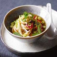 Vietnamese Beef and Rice Noodle Broth