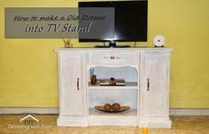 DIY |     Old Dresser into TV Stand