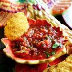 Great salsa recipe! I used fresh tomatoes instead of canned.