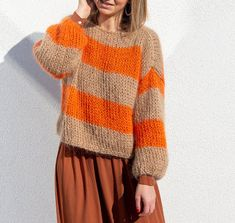 Sewing Paterns, Fair Isle Knitting Patterns, Knitting Ideas, Mohair Sweater, Cardigan Pattern, Crochet Clothes, Oversized Cardigan, Knitwear, Knit Crochet