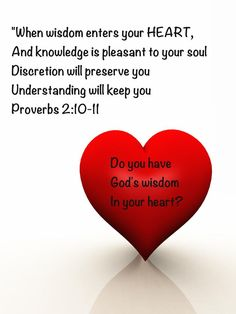 Proverbs 2:10-11 – Whose wisdom is directing your life—the Wisdom ...