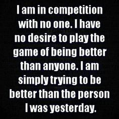 I am not in competition ☼☼☼