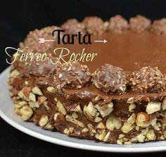 This Ferrero Rocher cake has a hazelnut flour and the indulgent chocolates you love. Torta Ferrero Rocher, Relleno, Cake Recipes, Cake Decorating, Cereal, Pie, Chocolate, Breakfast, Desserts