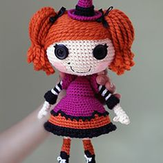 Lalaloopsy crocheted dolls.  could use this pattern to make any doll character that anne's currently into.