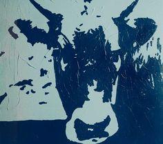 Cow 60x60 acrilico su tela