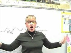 A third grade teacher uses songs and drawings to teach kids about the landforms and features on our Earth.