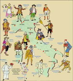 Origini e maschere del Carnevale italiano - Focus Junior Italian Grammar, Italian Vocabulary, Italian Language, Italian Lessons, Teaching Geography, Italy Map, Learning Italian, School Hacks, Old Postcards