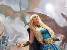 A Song Of Ice And Fire Daenerys Targaryen 20X30 Inch Poster Print