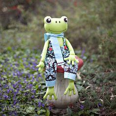 Motif de grenouille. Patron de couture peluche grenouille PDF. Fergus le modèle Softie de grenouille. Modèle numérique de téléchargement immédiat