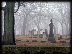 Picture of beautiful old cemetery