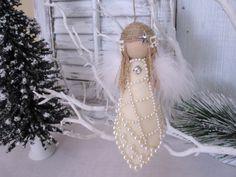 Christmas Ornament Bided Angel Rustic Ornament door Mydaisy2000