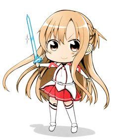 Sword Art Online, Asuna (Chibi), by yasuda (yasudanchi)