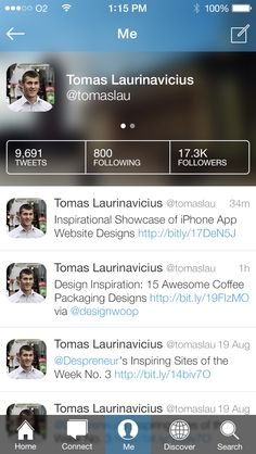 iOS 7 Twitter Concept - by Tomas Laurinavicius   #ui