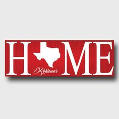 Home State Canvas ~ Personalized