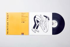 Covers, labels and packshots by London-based Post featuring illustration by Geoff Mcfetridge for Primitive Trust EP Booklet Design Layout, Graphic Design Layouts, Graphic Design Inspiration, Layout Design, Cd Design, Album Cover Design, Book Design, Music Illustration, Graphic Design Illustration