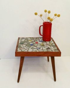 Bekijk dit items in mijn Etsy shop https://www.etsy.com/nl/listing/508566305/mosaic-side-table-plant-table-sixties