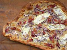 Tarte Flambée - Alsatian Red Onion, Crème Fraîche and Bacon Tart with Reblochon Cheese