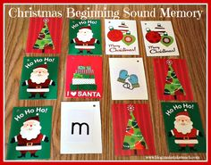 Classroom Freebies: Holiday Beginning Sound Memory