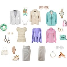 """""""Light Summer Goes To Work"""" by tinabee-1 on Polyvore"""