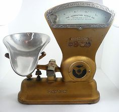 ORIGINAL DAYTON GOLD MEDALS CANDY SCALE 1-1/4 lbs CAP STYLE #166 Pat.1906