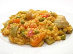 Arroz mediterráneo - MisThermorecetas.com Savoury Dishes, Tapas, Risotto, Easy Meals, Good Food, Healthy Recipes, Healthy Food, Food And Drink, Rice