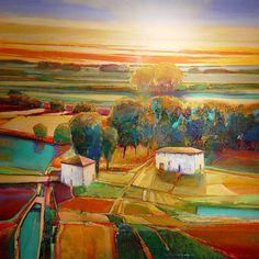 """""""My Neighbor's House #809"""" - Landscape Art by Mark Gould"""