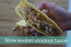 Family friendly low cooker chicken taco recipe - perfect as a make ahead meal on weeknights (gluten free).