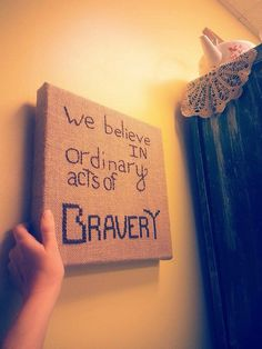 Handmade Burlap Canvas Wall Art Hanging - Quote From Divergent on Etsy, $19.95