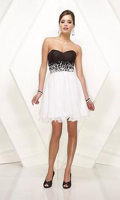 Vestiti eleganti in bianco e nero Dresses 2013 04f20668263