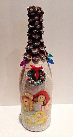 Botella Navidad