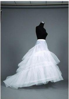 Trail Petticoat White Wedding Dress Petticoat Underskirt Skirt To Match Dress