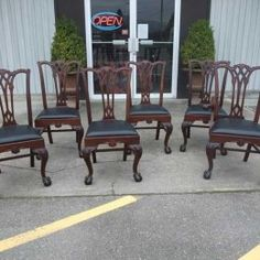 Antiques By Design   American Mahogany Chippendale Dining Chairs Antique  Dining Chairs, Dining Table,