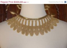 ON SALE Vintage 1950s Whiting & Davis Mesh Chain by pspecial5, $243.75