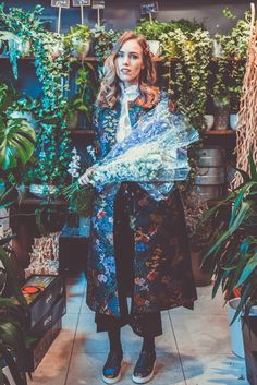 erdem x hm collection floral set outfit