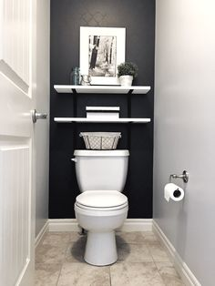 Toilet Room Decor, Small Toilet Room, Half Bathroom Decor, Downstairs Bathroom, Small Downstairs Toilet, Bathroom Ideas, Small Half Bathrooms, Small Half Baths, Small Bathroom