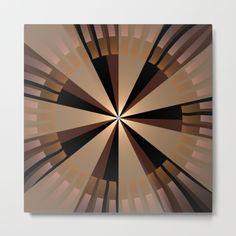 Golden beams, geometric pattern abstract Metal Print
